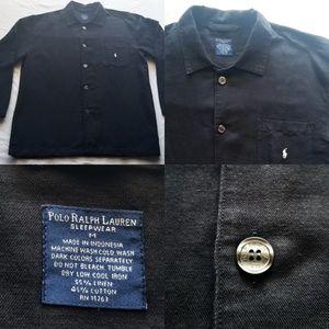 Men's Polo Ralph Lauren Sleepwear Black Button up